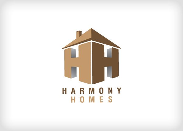 I Don T Like Logos That Have The Roof On Top Of The Lettering As A Way To Be Creative And Integrate Roofing Logo Construction Logo Design Property Logo Design
