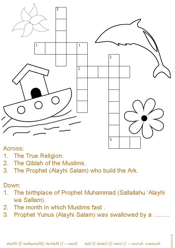 islamic crossword puzzle httpeaselandinkforumotioncomt2390 ramadan