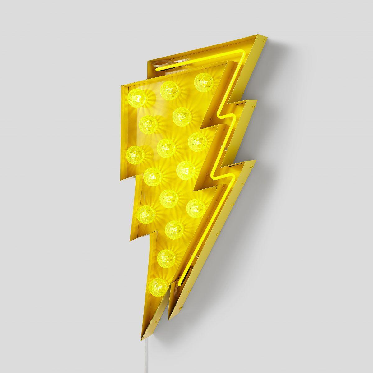 Uderzenie Pioruna Neon Blyskawica Lightning Sign With Bulbs