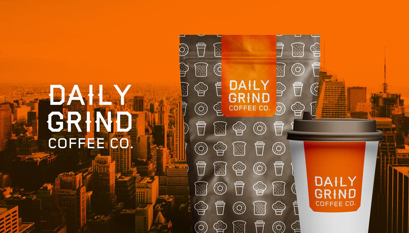 Daily grind coffee co on behance coffee shop business