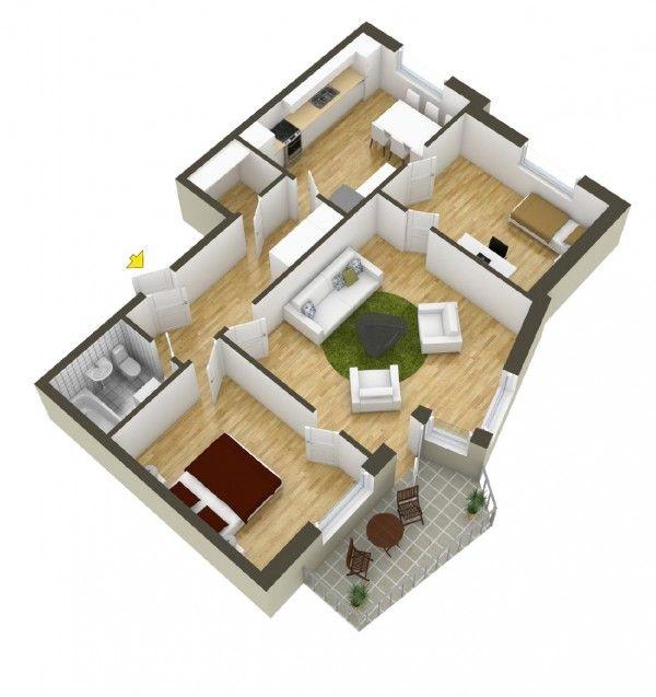 House · 40 more 2 bedroom home floor plans