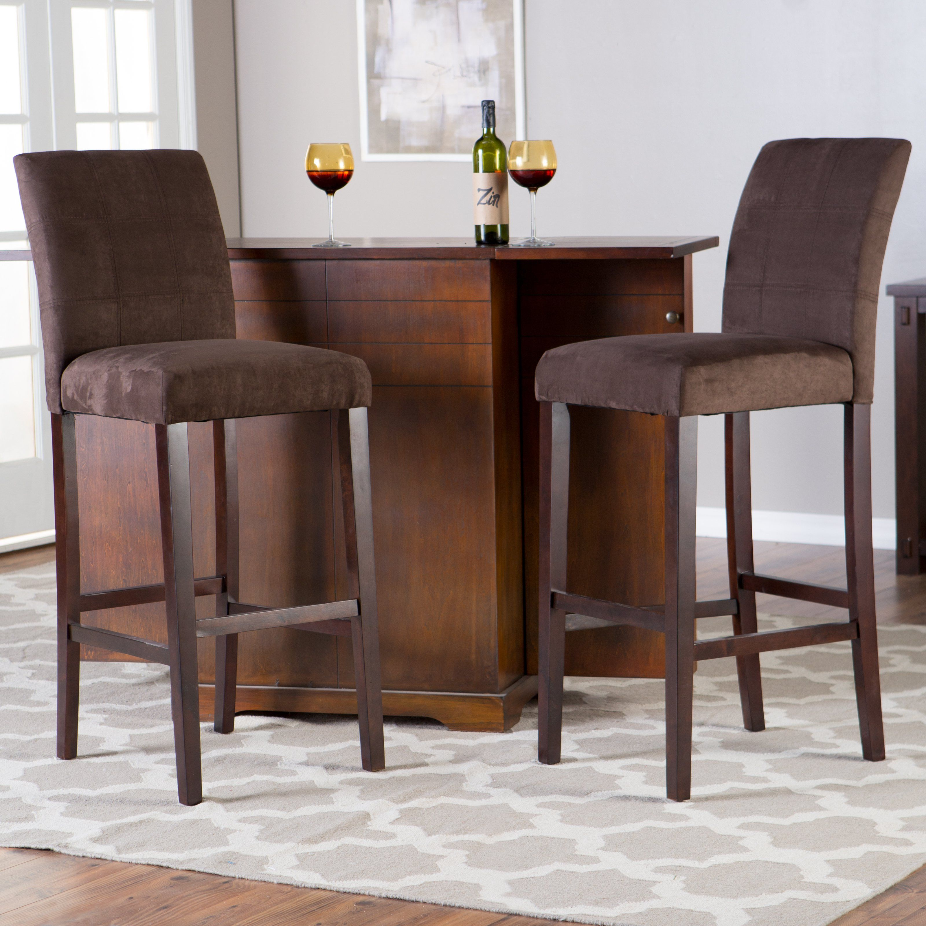 Palazzo Extra Tall Barstool - Chocolate - Set of 2 - Designed to ...