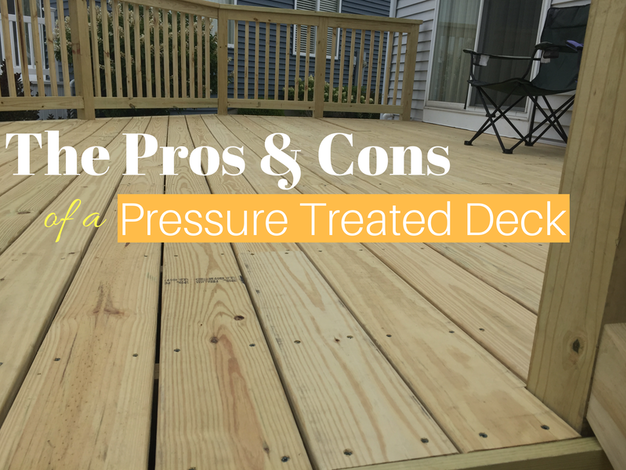 Pros Cons Of Pressure Treated Wood Decks Treated Wood Deck Pressure Treated Wood Wood Deck