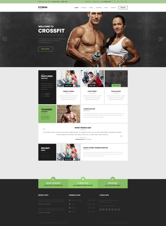 Fitness Wordpress Theme - Home - by Sunil Joshi | Web Design Gallery ...