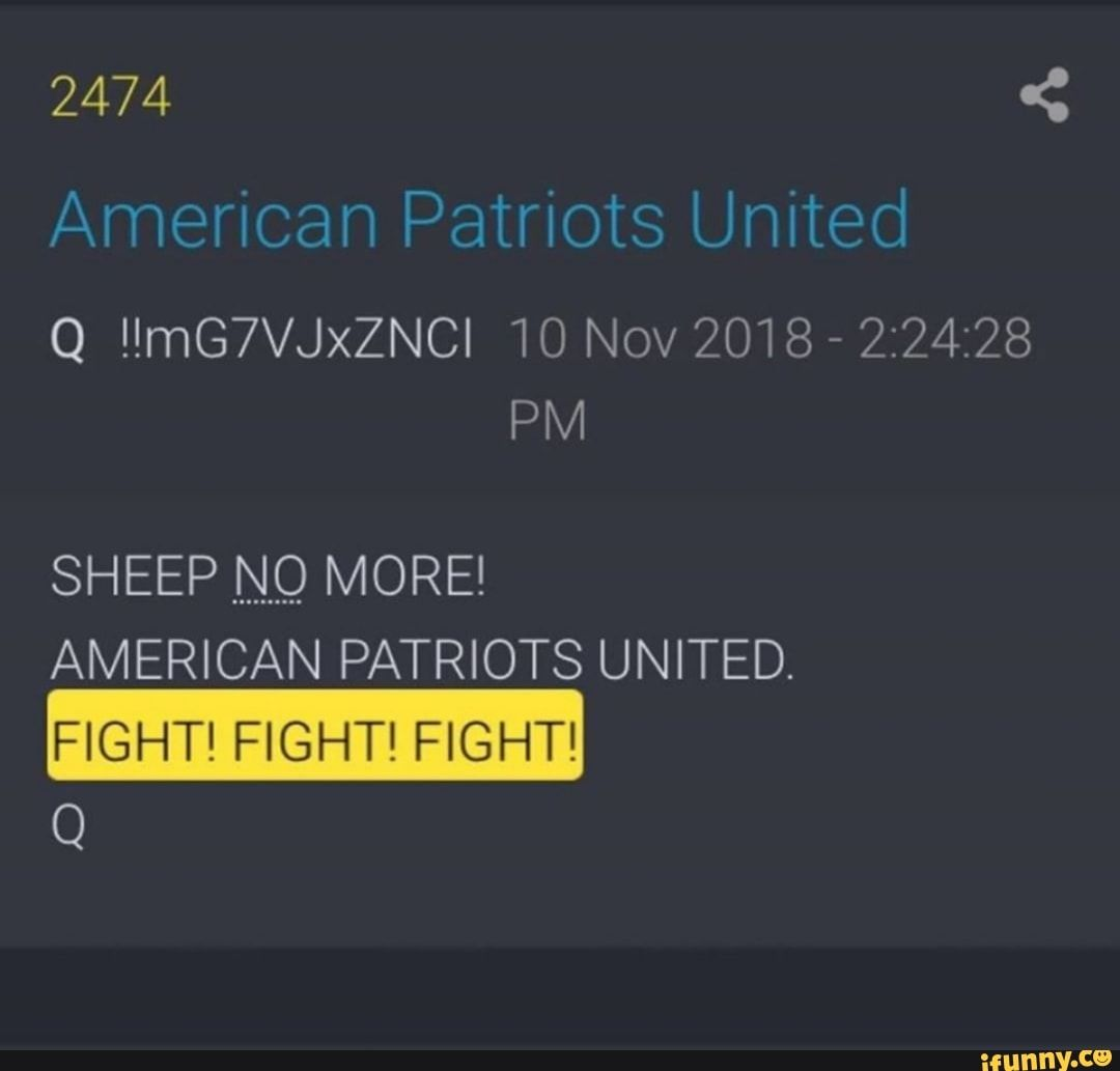 Q Mg7vjxznci 10 Nov 2018 2 24 28 Sheep No More American Patriots United Fight Fight Fight Ifunny Funny Sports Memes American Patriot Sports Memes
