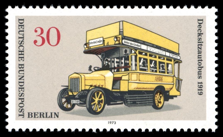Zil Car Logo Briefmarken Jahrgang 1973 Der Deutschen Bundespost