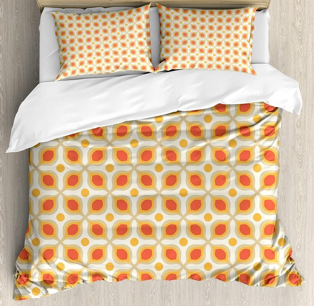 Linked Bold Geometric Shapes Print Duvet Cover Bedding Set Bedding