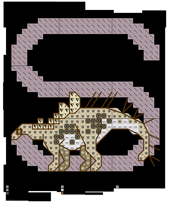 Alfabeto dei dinosauri s alfabeti a punto croce for Ricamo punto croce lettere