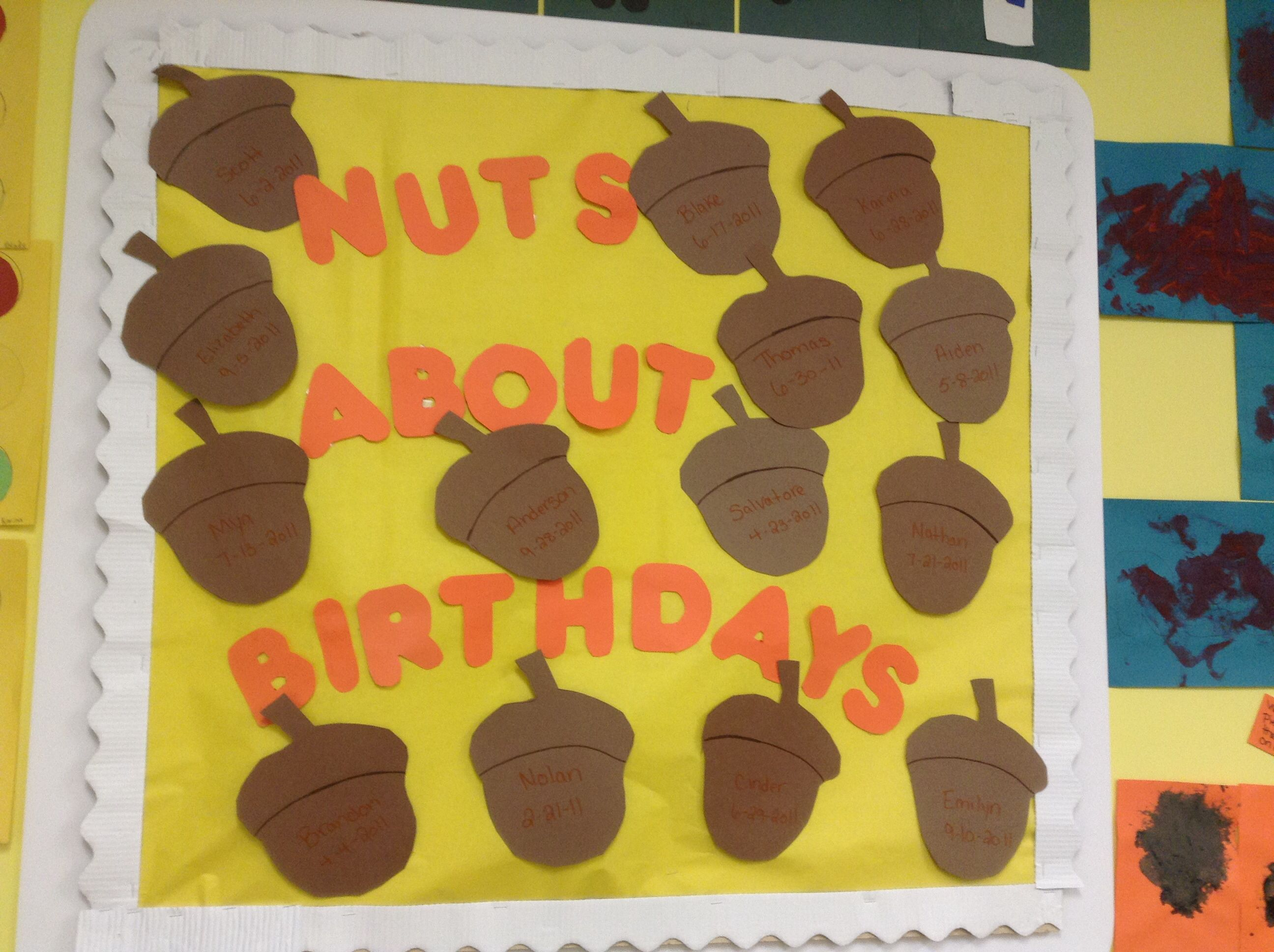 Birthday Board Fall themed | Look at what we\'ve done! :) | Pinterest ...
