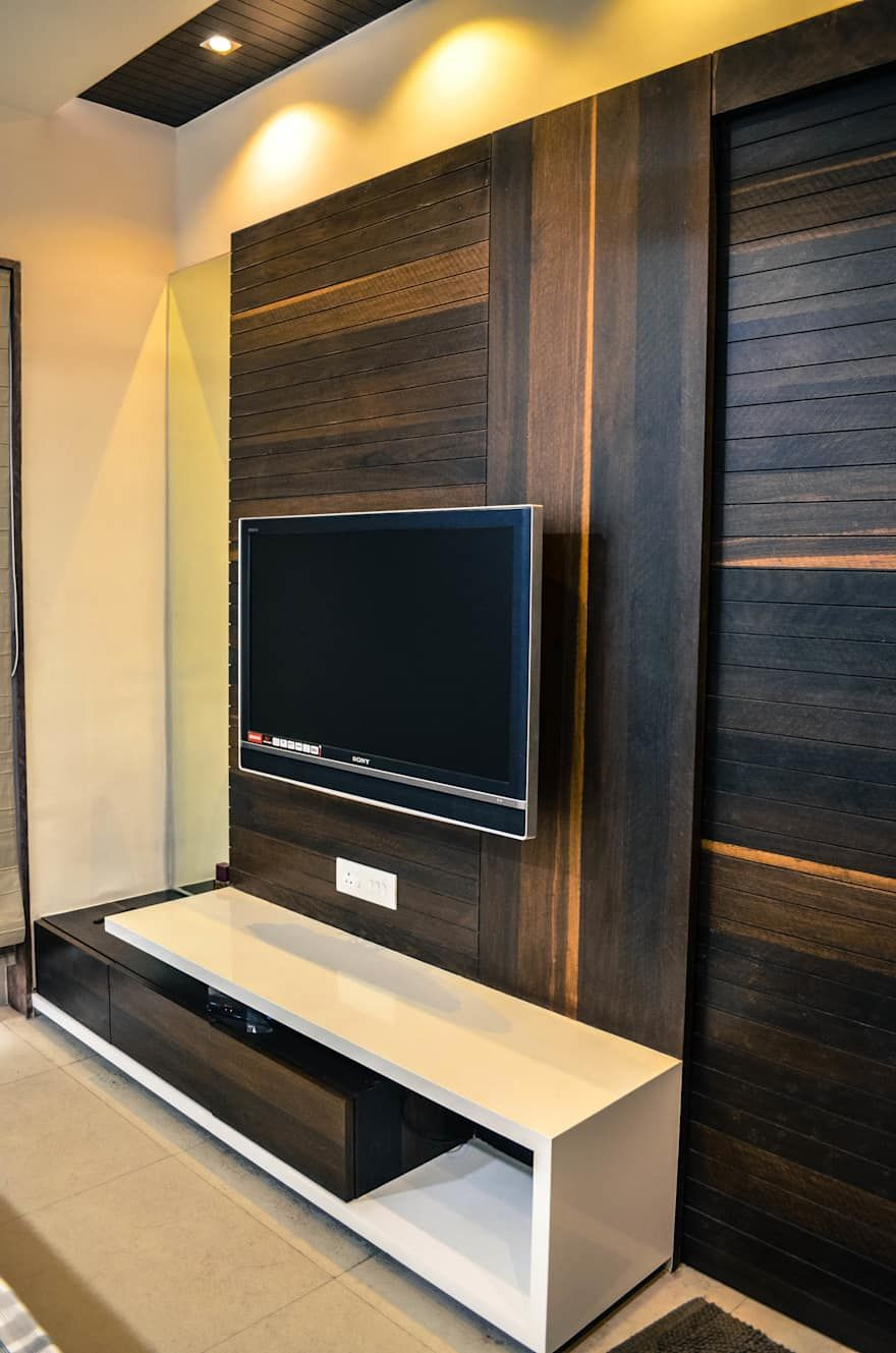 Lcd Unit Design Tv Showcase Lcd Units Modern Wall Units: Interior For Mr. Shah By Maulik Vyas Architects