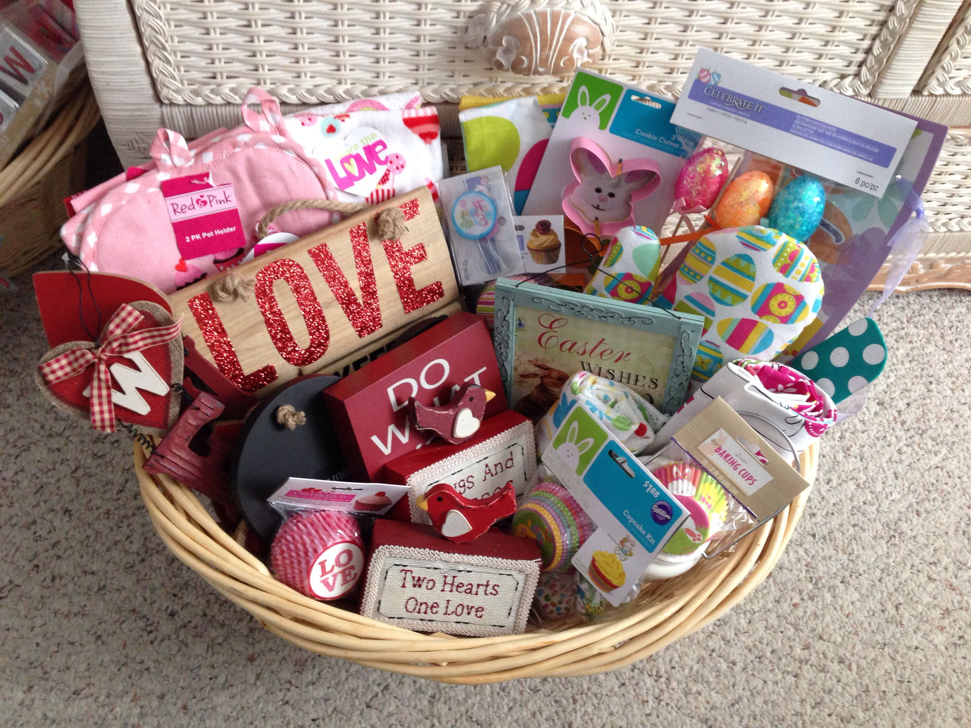 Bridal Shower Holiday Basket Valentines Day And Easter Holiday Baskets Bridal Shower Gift Baskets