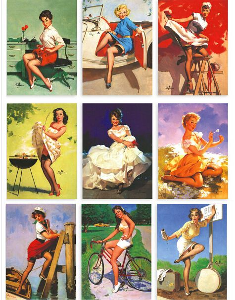 16ピース/ロットマスター女の子elvgrenの米国懐かしいポスター女の子ポストカード/プリティ·ウーマン/102*142ミリメートル