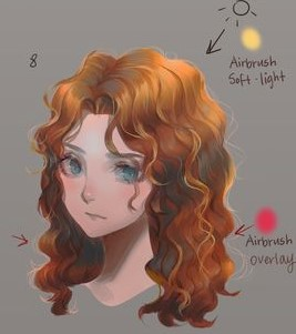 How To Paint Curly Hair Digital Painting Tutorial Digital Painting Tutorials In 2020 Digital Painting Tutorials Digital Painting Painting Tutorial