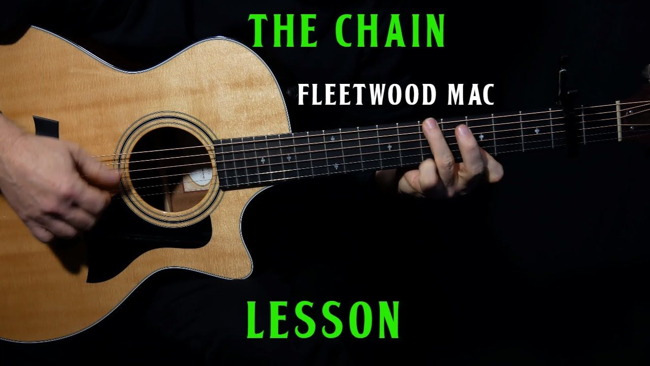 How To Play The Chain On Acoustic Guitar By Fleetwood Mac Guitar Lesson Tutorial Youtube Guitar Lessons Tutorials Guitar Lessons Acoustic Guitar Lessons