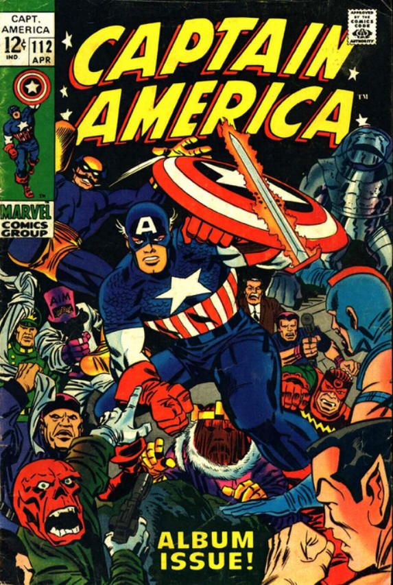 captain america comic book photos | Captain America #112 comic book from Marvel Comics Group