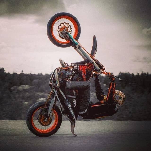 Supermoto Wheelie Supermoto Stunt Bike Bike Rally