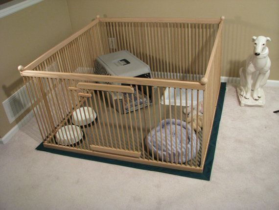 4 39 x4 39 red oak large indoor dog kennel with durable for Design indoor dog crate