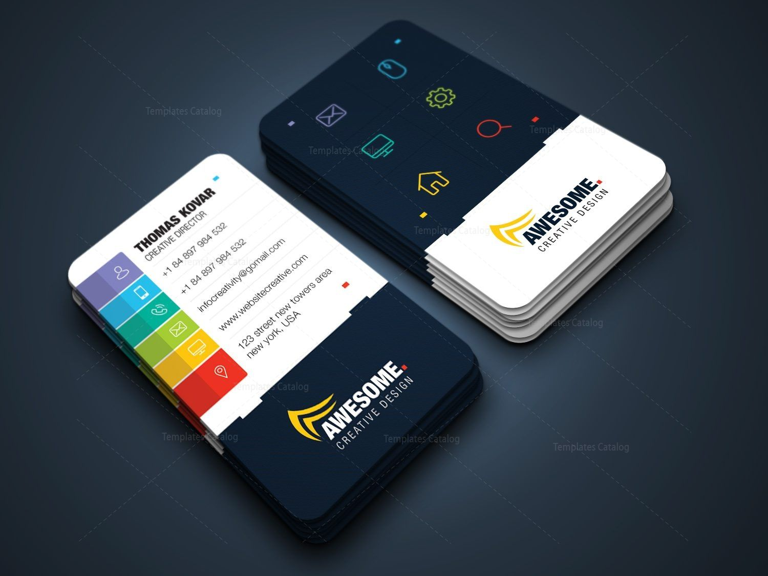 Awesome Versatile Corporate Business Card Template 001431 Template Catalog Business Cards Creative Business Card Design Creative Business Card Inspiration