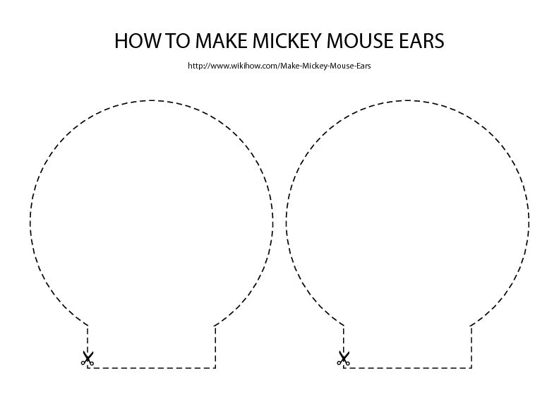 Free download for mickey mouse ears template party for Template for minnie mouse ears