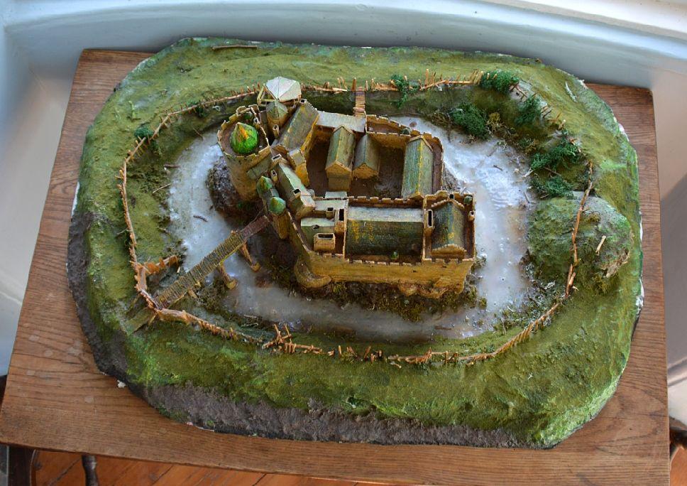 Model of Dirleton Castle in East Lothian Scotland (general