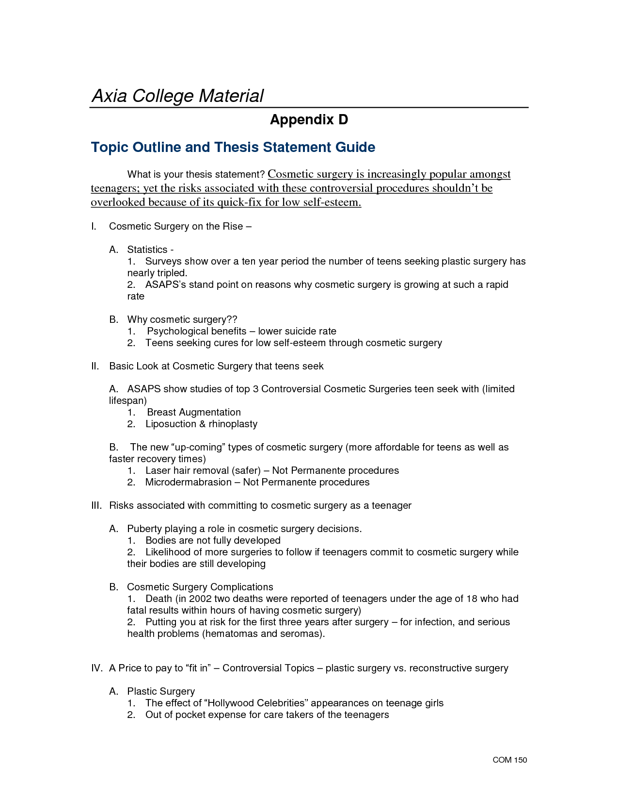 Arguable Thesis Persuasion Map    Goal Or Thesis