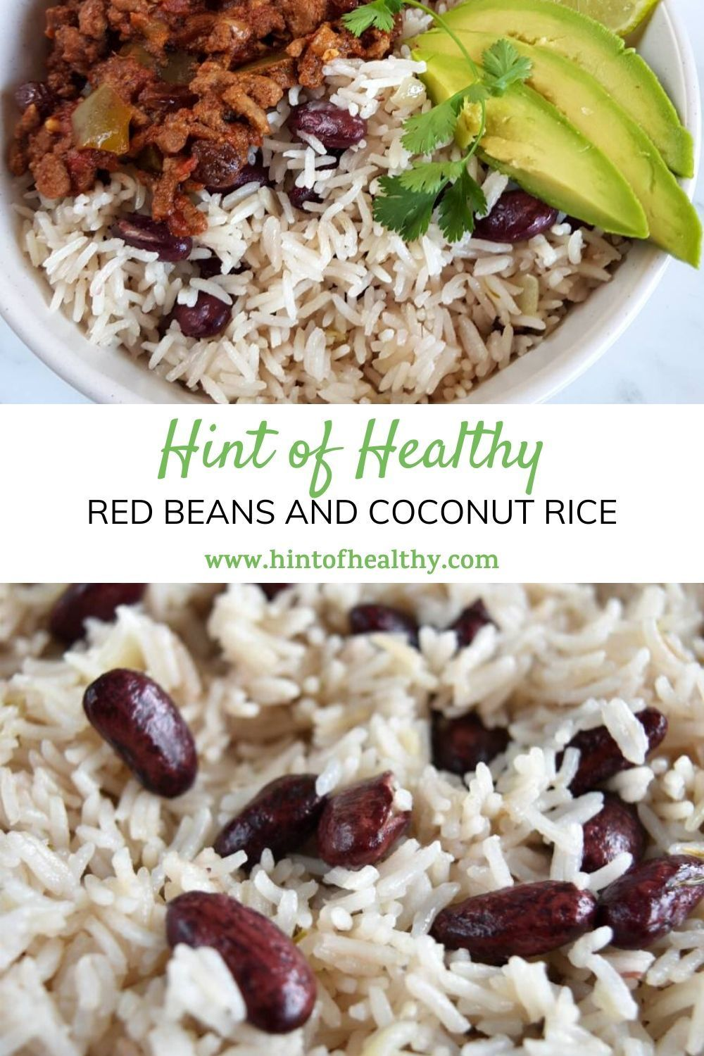Easy Red Beans and Coconut Rice | Hint of Healthy | Recipe ...