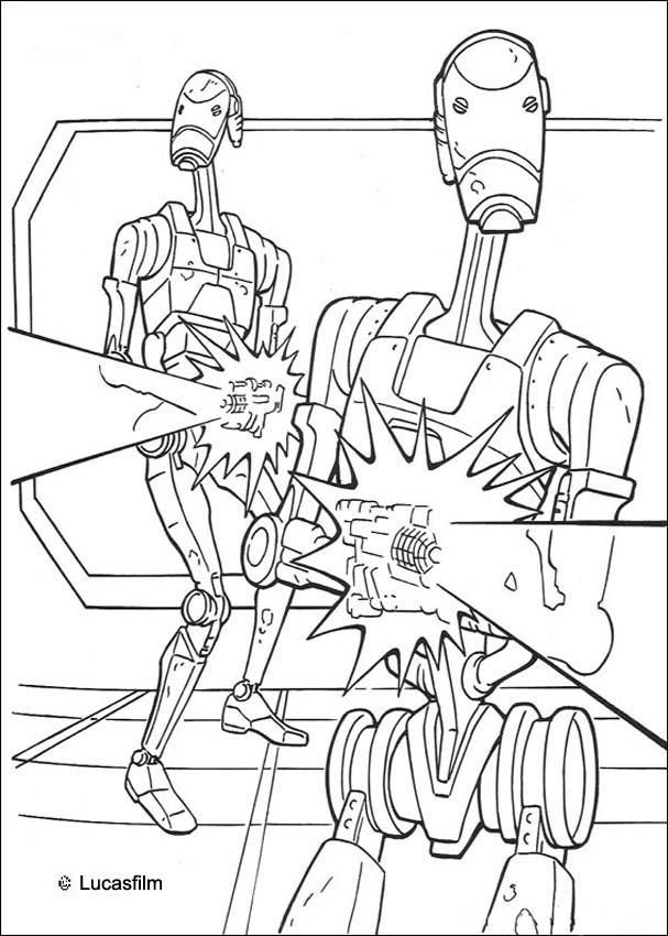 Now You Can Color Online This Trade Federation Robots Coloring Page And Save It To Your Computer Print Out