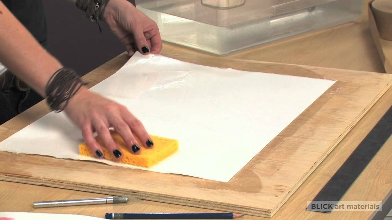 How To Stretch Watercolor Paper Watercolor Art Watercolor Paper