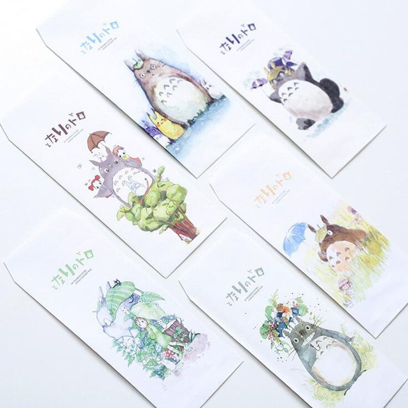 S51 10X Fresh Cute Totoro Paper Envelope Gift Wrap DIY Tool Greeting - fresh letter format with title