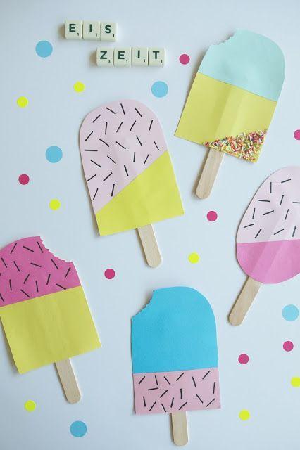 Kinderzimmerbastelei: Eis-Girlande (Hej Hanse)