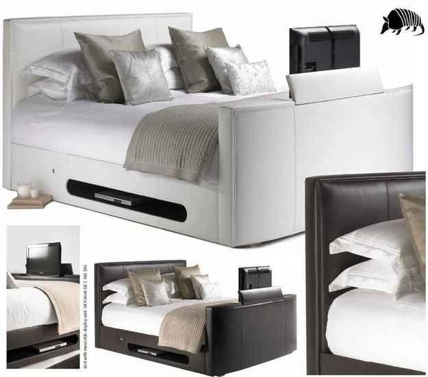 die besten 25 tv betten ideen auf pinterest versteckter fernseher tv schrank design und. Black Bedroom Furniture Sets. Home Design Ideas