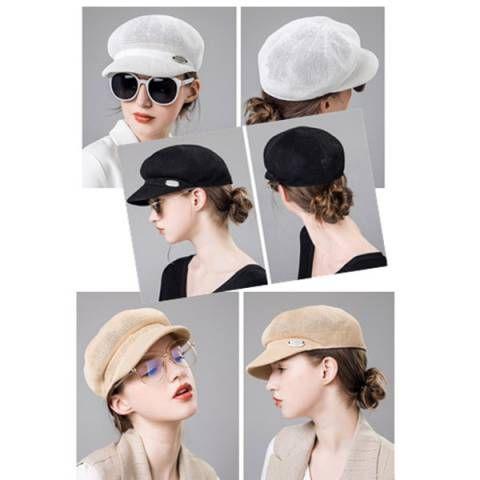 Plain white Baker Boy hat for women spring newsboy caps  16c75ec939d