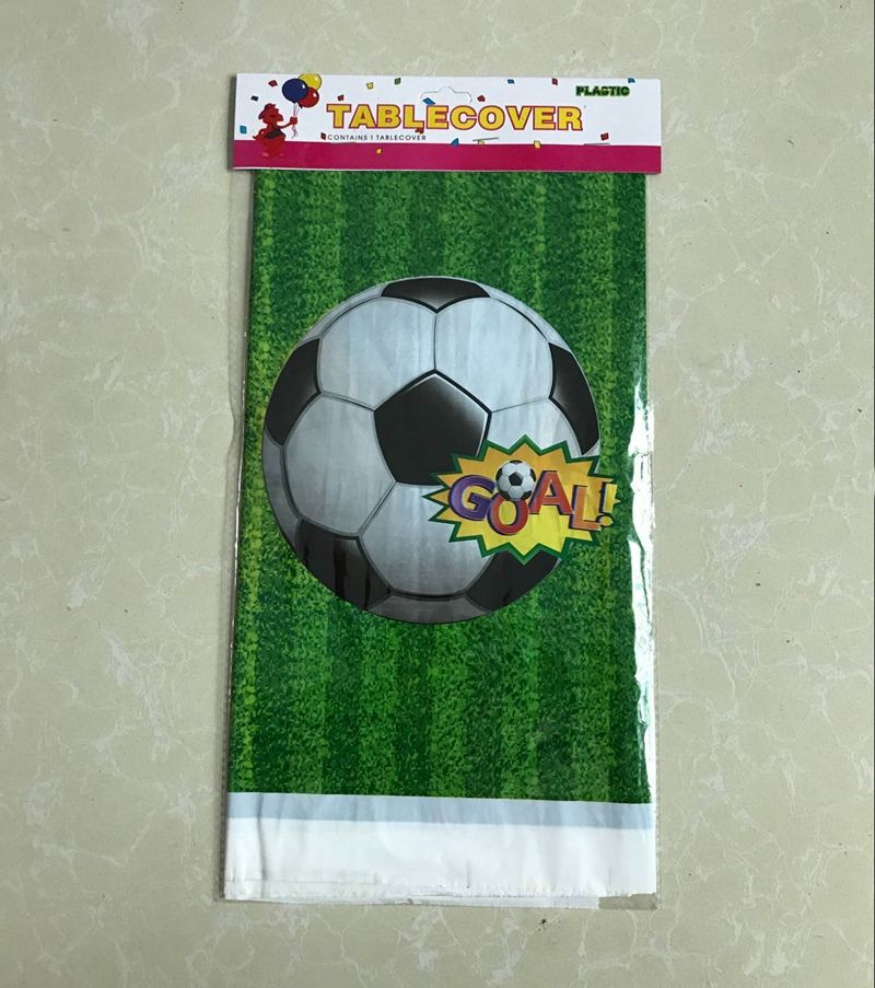 Disposable Plastic Table Cloth Football Table Cover Tablecloth Waterproof And Match Paper N Football Table Cover Sports Party Decorations Waterproof Tablecloth