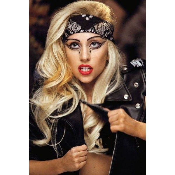 da9b0fe28 Lady Gaga Judas Bandana Blonde Hairstyle ❤ liked on Polyvore featuring hair