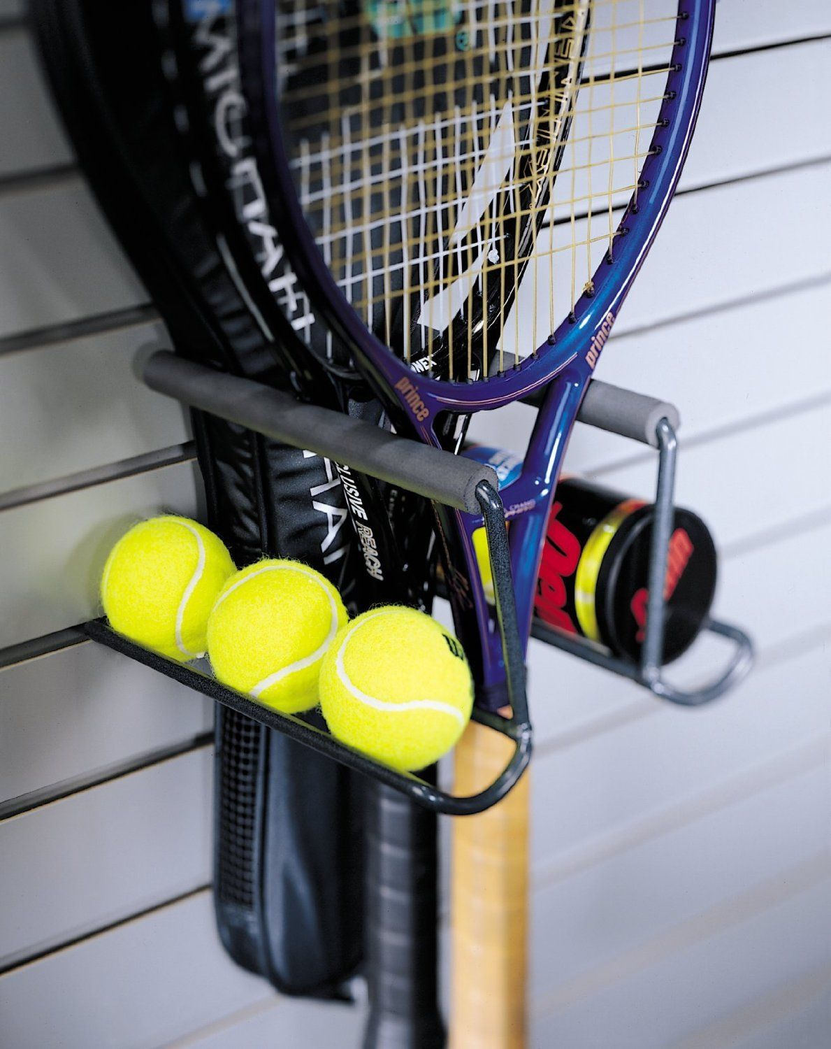 Organized living racquet rack general purpose storage racks