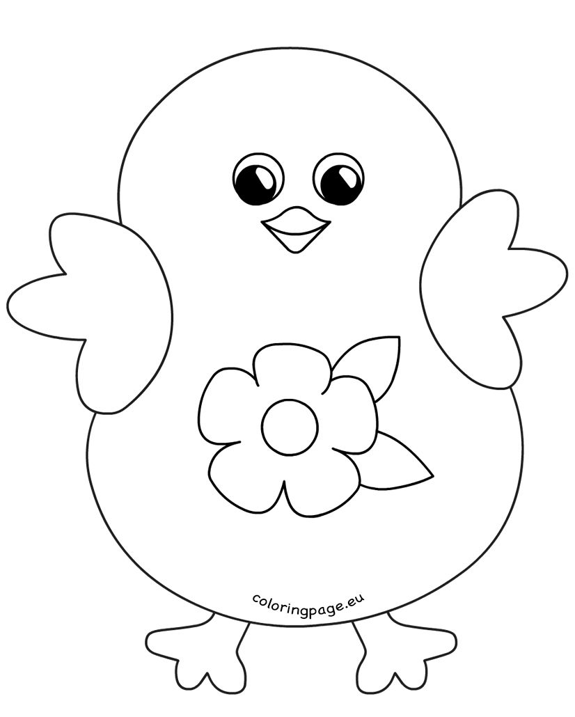 easter chicks coloring pages - photo#27