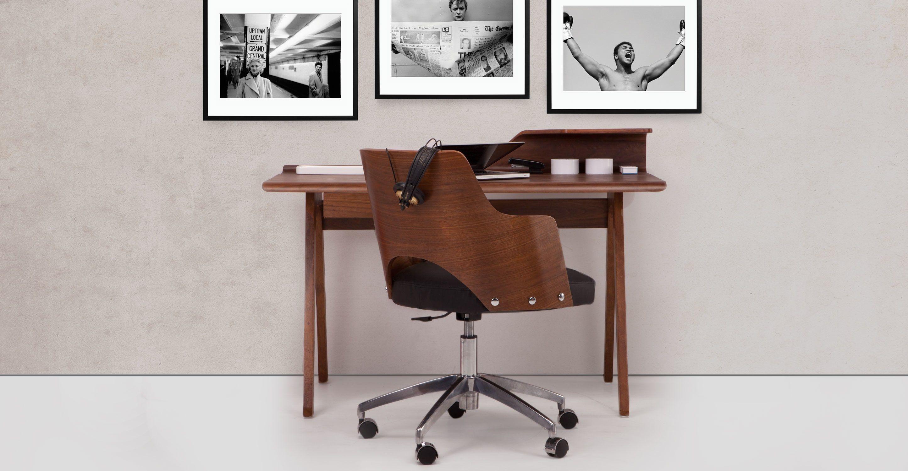 Cornell Schreibtisch Walnuss Design Schreibtisch Schreibtisch Modern Zuhause