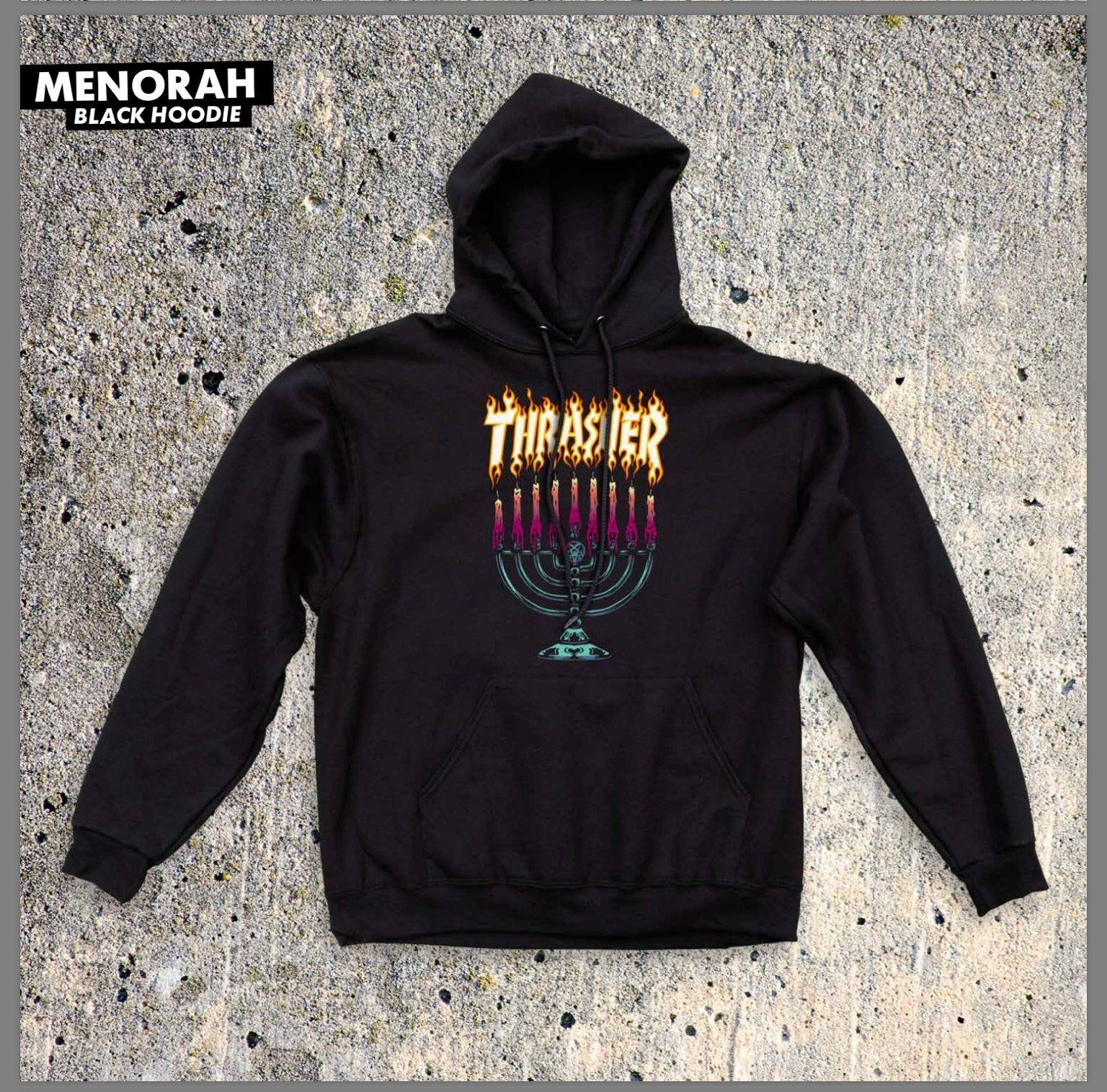 Men 159067 Thrasher Magazine Menorah Black Hoodie Hooded Sweatshirt M L Xl Flame Supreme Buy It Now Only 49 95 Hoodies Black Hoodie Hooded Sweatshirts [ 1515 x 1536 Pixel ]