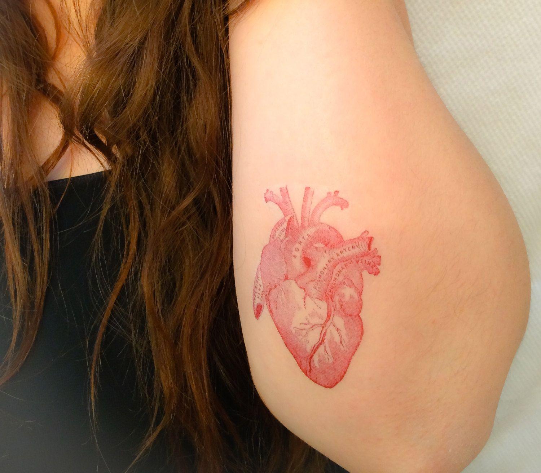 2 Anatomical Heart Temporary Tattoos- SmashTat | Pinterest ...