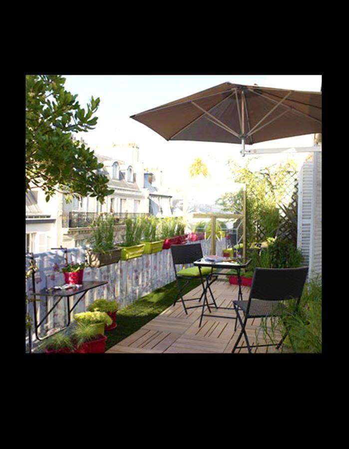 20 id es pour am nager un petit balcon terrasse gazon artificiel gazon et petit balcon. Black Bedroom Furniture Sets. Home Design Ideas