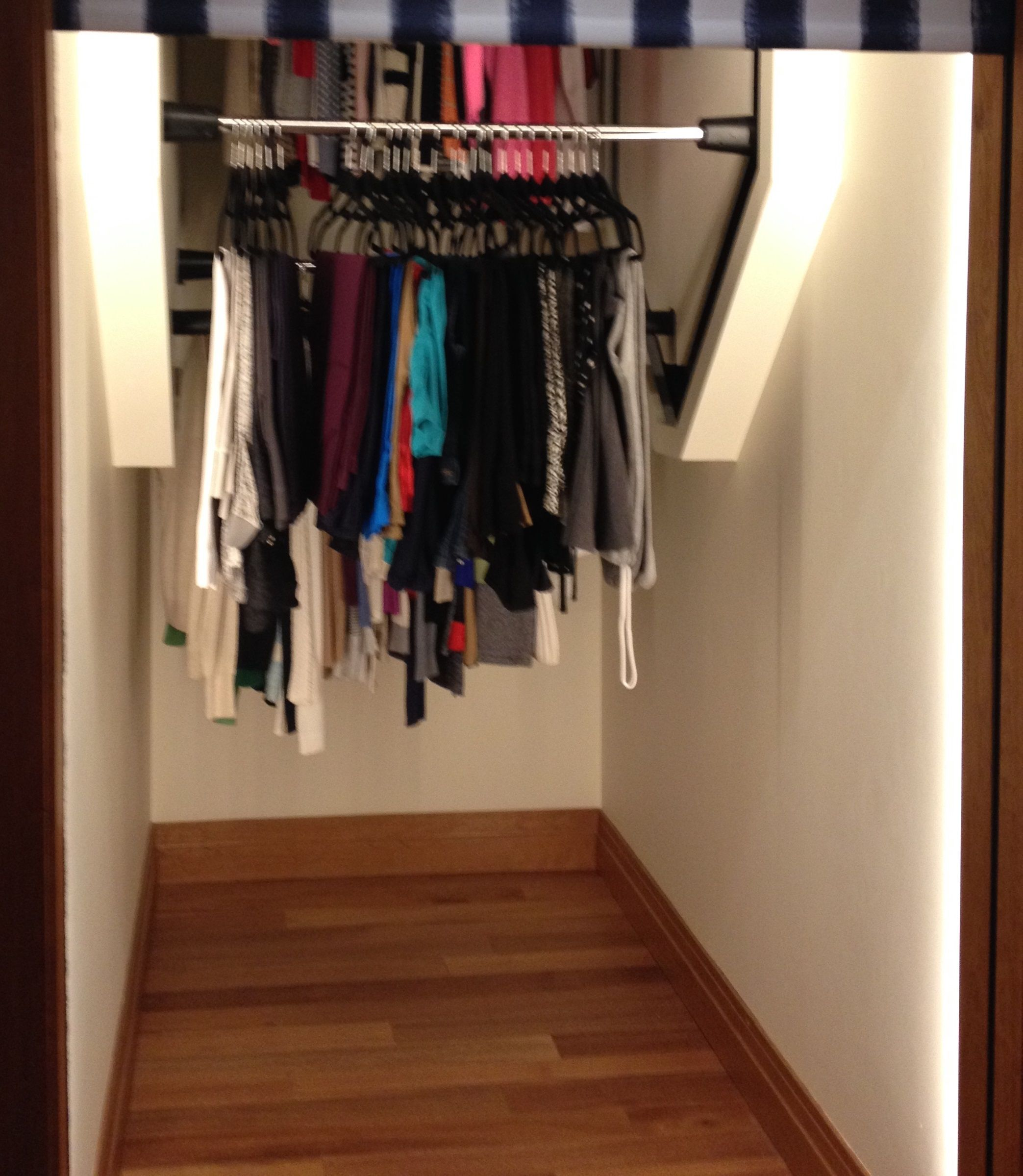Vertical Revolving Clothes For Closet Great Idea For Understairs