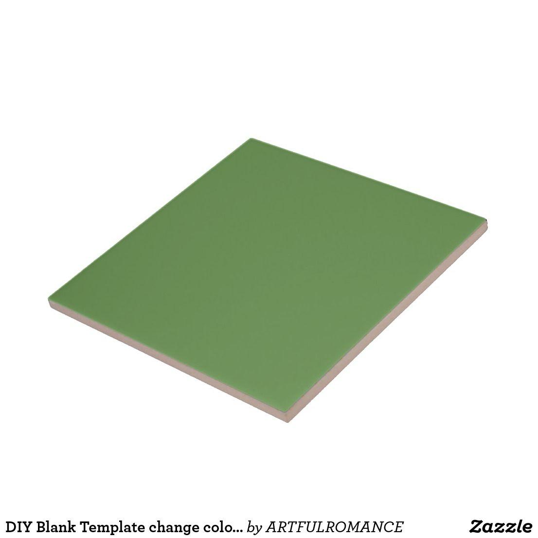 DIY Blank Template change color add text image Ceramic Tile | 101 ...
