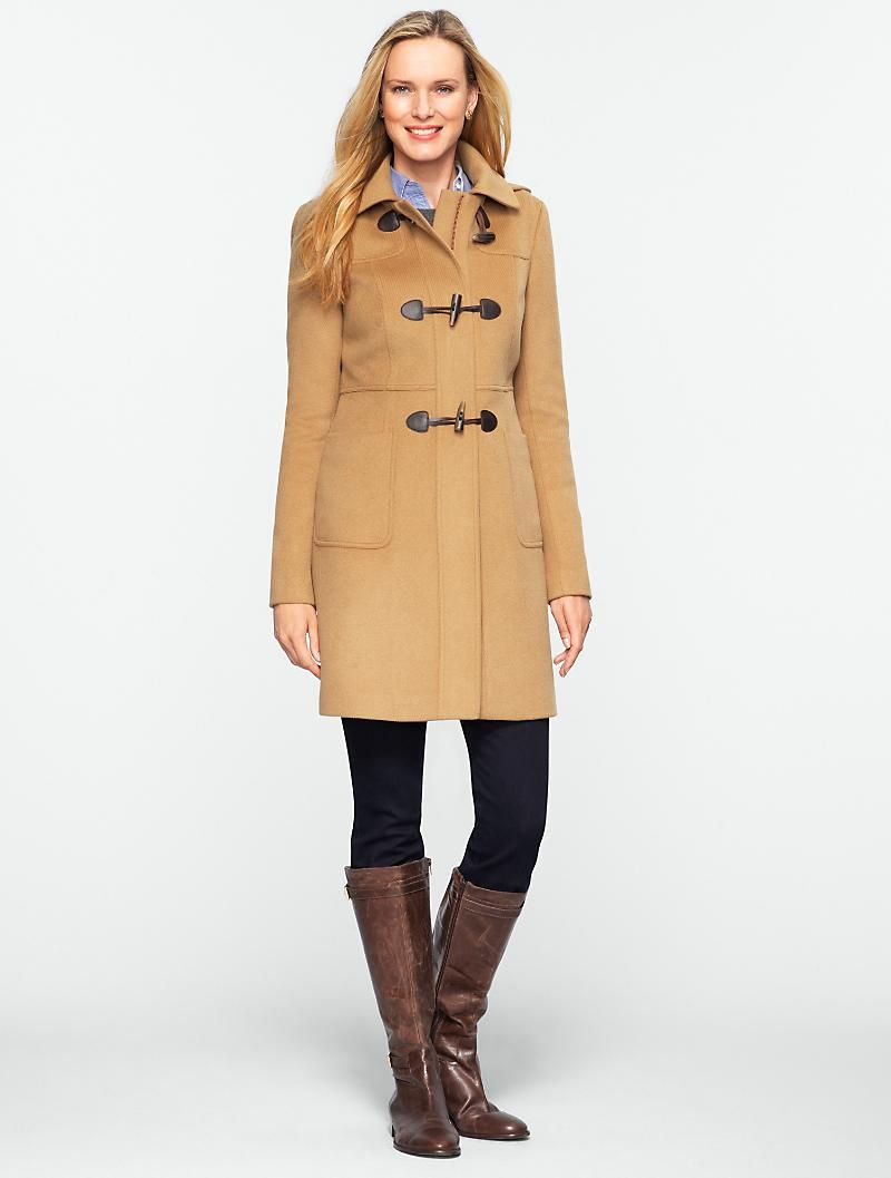 Talbots The Classic Toggle Coat With Full Lining Clothes For Women Clothes Toggle Coat [ 1057 x 800 Pixel ]