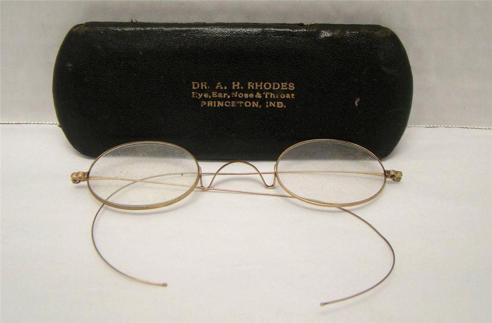 VINTAGE EYEGLASSES DR. RHODES GOLD FILLED LEGS & FRAMES SCRAP OR ...