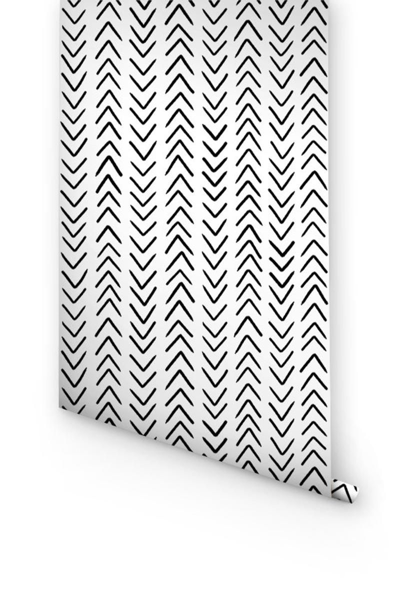 Peel And Stick Wallpaper With Chevron Pattern Removable Etsy In 2020 Peel And Stick Wallpaper Chevron Wallpaper Removable Wallpaper