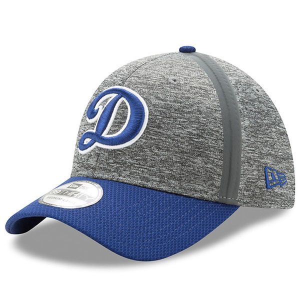 low priced ef9b8 51a4a Men s Los Angeles Dodgers New Era Heathered Gray Royal Clubhouse 39THIRTY  Flex Hat,  29.99