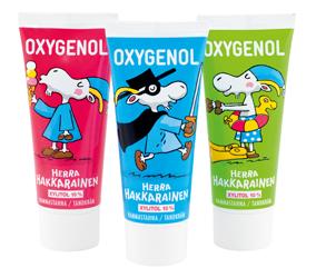 Oxygenol Herra Hakkarainen -hammastahna tytöille