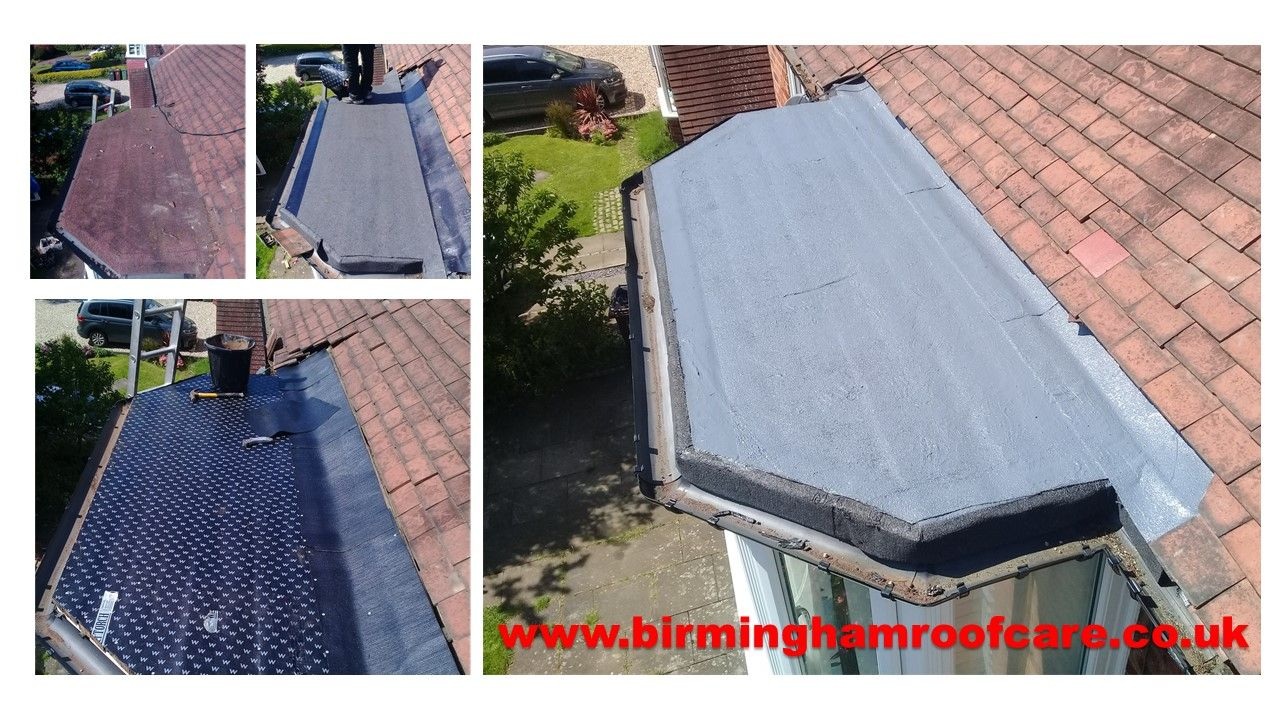 A Flat Felt Roof With A Layer Of Decaphane Liquid Rubber Highly Recommended Roof Installation Liquid Rubber Roof