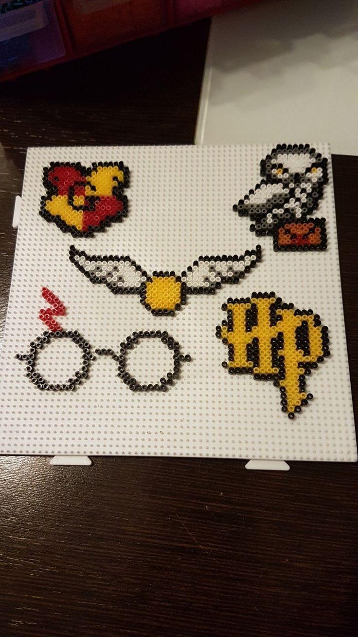 Stuff From Harry Potter Beads Hama Hamabeads Hamaperler Hamamini Harrypotter Geburtstagspart Hama Perlen Muster Basteln Bugelperlen Perler Bead Designs