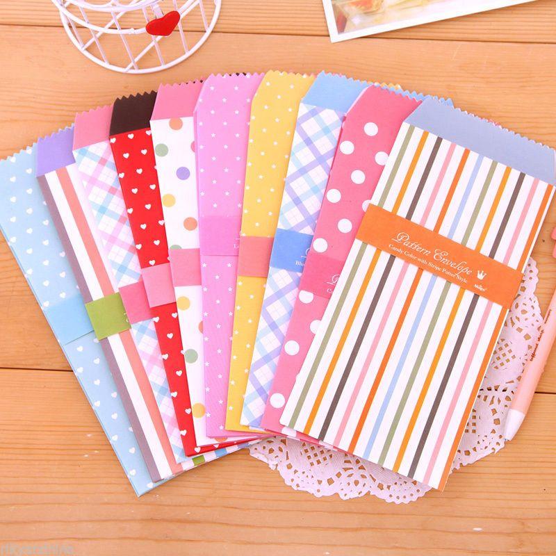 SWEET PATTERN Envelopes kawaii fancy cute Hearts stationery love letter envelope
